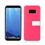 Samsung Galaxy S8 Hybrid Slim Case With Kickstand Case & Card Holder Pink