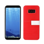 Samsung Galaxy S8 Hybrid Slim Case With Kickstand Case & Card Holder Red