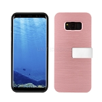 Samsung Galaxy S8 Hybrid Slim Case With Kickstand Case & Card Holder Rose Gold