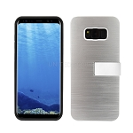 Samsung Galaxy S8 Hybrid Slim Case With Kickstand Case & Card Holder Silver