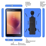 New Samsung Galaxy Tab A 8 Inch T380/T385 (2017 Model) Heavy Duty Case With Kickstand Blue/Black