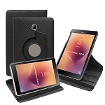 New Samsung Galaxy Tab A 8 Inch T380/T385 (2017) 360 Degree Rotating Leather Case Black