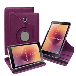 New Samsung Galaxy Tab A 8 Inch T380/T385 (2017) 360 Degree Rotating Leather Case Purple