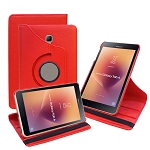 New Samsung Galaxy Tab A 8 Inch T380/T385 (2017) 360 Degree Rotating Leather Case Red