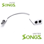 3.5mm Audio Jack 1 to 2 Jack Cable White
