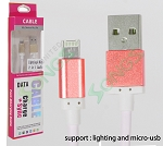 2 in 1 Multi-function iPhone & V8/V9 Cable Mix Colors( Can't Choose Color if Order Online)