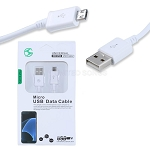 Micro V8 V9  7 Feet USB Data Cable White