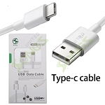 Type C USB Cable White 3 Feet
