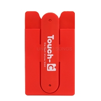 New Credit Card Sleeve Phone Holder Without Stand Red