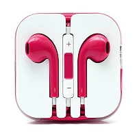 iPhone 6/SE/5/4 Series Earphone with MIC and Volume Control Pink
