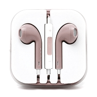 iPhone 6/SE/5/4 Series Earphone with MIC and Volume Control Light Pink
