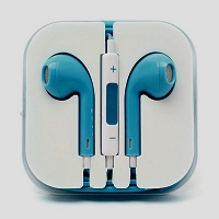 iPhone 6/SE/5/4 Series Earphone with MIC and Volume Control Light Blue