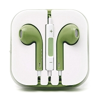 iPhone 6/SE/5/4 Series Earphone with MIC and Volume Control Light Green