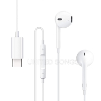 Type C Earphones White