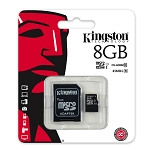 8GB microSD Card With SD Card Adapter