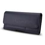 New Horizontal Style Leather Pouch with Credit Card Holder for Phone With Slim Case Up to 4.7 inch