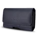 New Horizontal Style Leather Pouch with Credit Card Holder for Phone With Heavy Duty Case Up to 5.3 inch