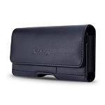 New Horizontal Style Leather Pouch with Credit Card Holder for Phone With Slim Case Up to 5.3 inch