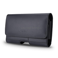 New Horizontal Style Leather Pouch with Credit Card Holder for Phone With Slim Case Up to 6.4 inch