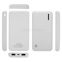 New 10,000 mAh USB Power Bank White