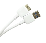 Samsung Galaxy S5/Note 3 Cable White USB 3.0 (3-feet)