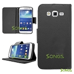 Samsung Galaxy Grand2 G7106 Wallet Case Black