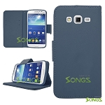 Samsung Galaxy Grand2 G7106 Wallet Case Blue