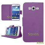 Samsung Galaxy Grand2 G7106 Wallet Case Purple