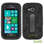 Samsung ATIV Odyssey i930 Heavy Duty Case with Kickstand Black/Black