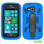 Samsung ATIV Odyssey i930 Heavy Duty Case with Kickstand Blue/Black