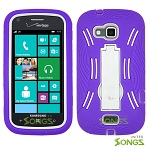 Samsung ATIV Odyssey i930 Heavy Duty Case with Kickstand Purple/White