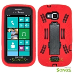 Samsung ATIV Odyssey i930 Heavy Duty Case with Kickstand Red/Black