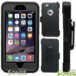 iPhone 5 5S Heavy Duty Case with Screen Protector With Clip Black/Black
