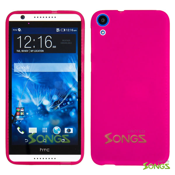 HTC DESIRE 820 TPU(Gel) Case Hot Pink