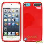 iTouch 5 TPU(Gel) Case Red