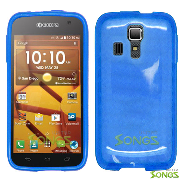 Kyocera Hydro ICON C6730(Boost Mobile) Hydro LIFE C6530(T-Mobile) TPU(Gel) Case Blue