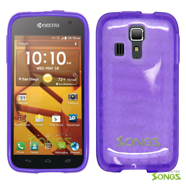 Kyocera Hydro ICON C6730(Boost Mobile) Hydro LIFE C6530(T-Mobile) TPU(Gel) Case Purple