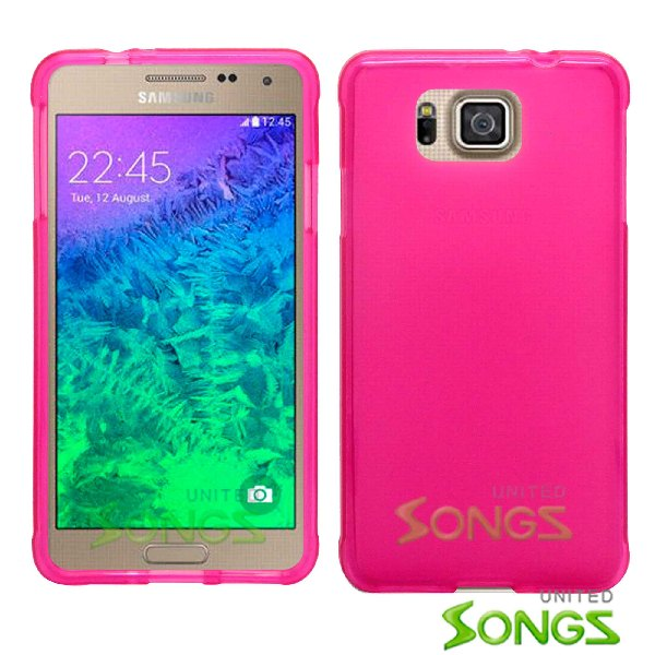 Samsung Galaxy Alpha G850 TPU(Gel) Case Hot Pink