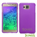 Samsung Galaxy Alpha G850 TPU(Gel) Case Purple