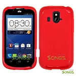 ZTE Overture Z995(AIO)  TPU(Gel) Case Red