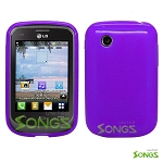 LG 306G TPU (Gel) Case Purple