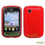 LG 306G TPU (Gel) Case Red