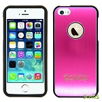 iPhone 5 5S Metal Back Case High Pink/Black