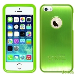 iPhone 5 5S Metal Back Case Green/Green