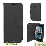 Alcatel One Touch Evolve 2/4037 Wallet Case Black