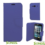 Alcatel One Touch Evolve 2/4037 Wallet Case Blue