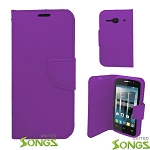 Alcatel One Touch Evolve 2/4037 Wallet Case Purple