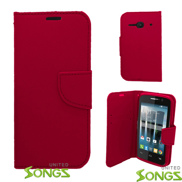Alcatel One Touch Evolve 2/4037 Wallet Case Red