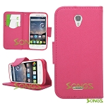 Alcatel OneTouch POP Astro 5042T Wallet Case Pink