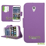 Alcatel OneTouch POP Astro 5042T Wallet Case Purple